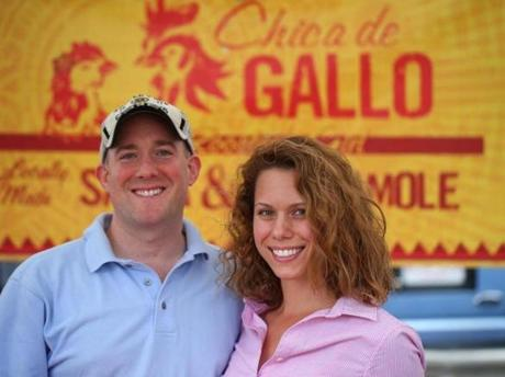 Ben Russo and Amanda Bauman, owners of  Chica de Gallo.