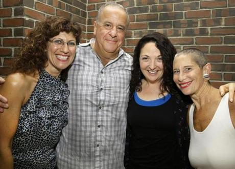 From left: Anita Renda of Rockland, Vin Albanese of Weymouth, Jan Schmidt of Pawtucket, R.I., and Judith Gutman of Dedham.