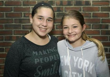 Jessi Calos (left) and Abi Sanborn, both of Marshfield.