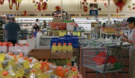 Some people are patronizing Market Basket for the first time, their curiosity piqued by news coverage during the protest.
