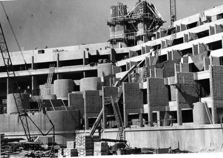 The complex under construction in 1969.