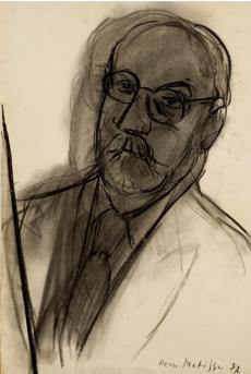 "Mount Holyoke College Art Museum Matisse Drawings: Curated by Ellsworth Kelly from The Pierre and Tana Matisse Foundation Collection 30 August - 14 December 2014 Henri Matisse, Grand autoportrait (Large Self-Portrait), 1937, charcoal on paper. All images should be credited as follows: ""Courtesy The Tana and Pierre Matisse Foundation, Images © 2014, Succession H. Matisse/Artist Rights Society (ARS), New York. 07matisse"