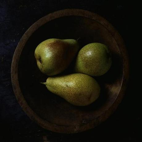 "Paul Cary Goldberg, ""Still Life with Three Pears and Wooden Bowl"" -12photos"