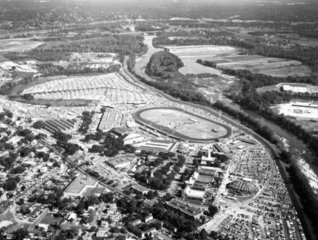 September 14 1960 / fromthearchive / Boston Globe Archive photo / By 1960, the exposition encompassed 175 acres and its facilities included 45 permanent building, a 6000-seat coliseum for indoor show, a half-mile race track and 15,000-seat grandstand for outdoor events, a 2000-seat tent theater-in-the-round and parking area for thousands of cars.