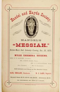 "Handel and Haydn Society Archival H&H poster of Handel's ""Messiah"" Photo credit: James Doyle 16handh"