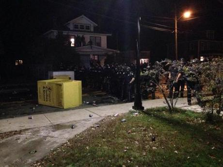 Police responded to disturbances in Keene, N.H.