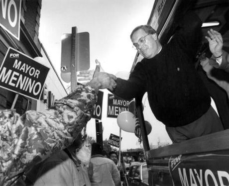 During his first run for mayor, in 1993, Menino embarked on a trolley tour through Dorchester, a harbinger of a pounding-the-pavement leadership style that defined his tenure.