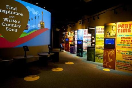 Interactive Contemporary gallery at the Country Music Hall of Fame and Museum.