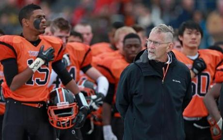 Newton North head coach Peter Capodilupo compiled a 165-167-1 career record.