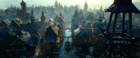 "HBT2-TRL1-063 Film Name: THE HOBBIT: THE DESOLATION OF SMAUG Copyright: © 2013 WARNER BROS. ENTERTAINMENT INC. AND METRO-GOLDWYN-MAYER PICTURES INC. Photo Credit: Courtesy of Warner Bros. Pictures Caption: A shot of Lake-town from the fantasy adventure ""THE HOBBIT: THE DESOLATION OF SMAUG,"" a production of New Line Cinema and Metro-Goldwyn-Mayer Pictures (MGM), released by Warner Bros. Pictures and MGM. 13hicks"