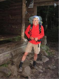 It is a picture of my Gerry Largay that was taken the day she went missing. It is an incredible photo and really captures her joy for the hike.