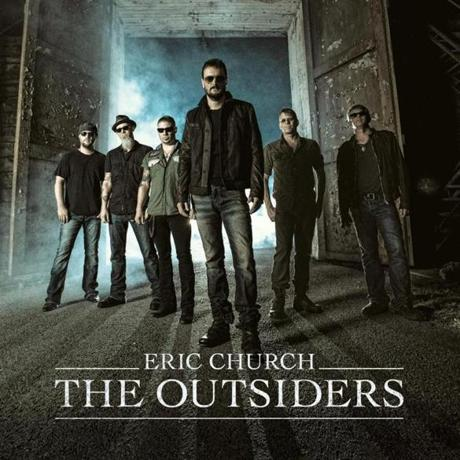"ERIC CHURCH, ""THE OUTSIDERS"" cd cover. -- 14bestalbumsrodman"
