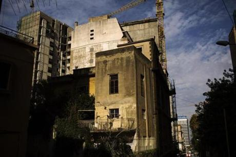 A view shows Mansion in Beirut, a grand, beautiful villa from the 1930s situated in Zoqaq el-Blat. Like many old homes, it was left shattered by Lebanon's 16-year civil war.