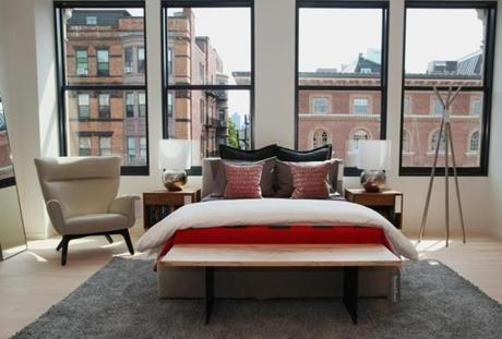 Boston, MA 061714 Bedroom set on display at Room & Board in Boston's Back Bay, Tuesday, June 17 2014. (Wendy Maeda/Globe Staff) section: Lifestyle slug: roomandboard reporter: Jill Radsken 011115BOSTNSHOPPING