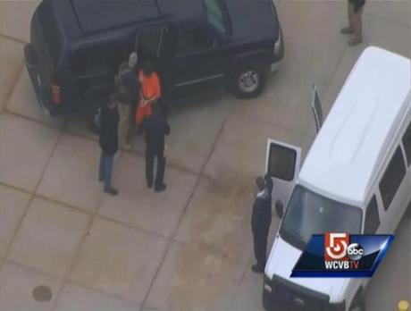 Dzhokhar Tsarnaev was returned to the Federal prison in Devens Thursday afternoon.
