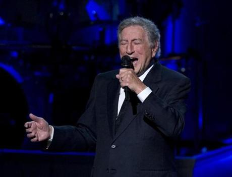 Tony Bennett performs during a tribute concert to Billy Joel, the recipient of the Library of Congress Gershwin Prize for Popular Song, at DAR Constitution Hall in Washington, Wednesday, Nov. 19, 2014. (AP Photo/Carolyn Kaster)
