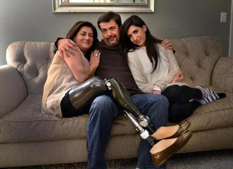 Celeste Corcoran lost both legs in the Boston Marathon bombings and her daughter Sydney nearly bled to death.