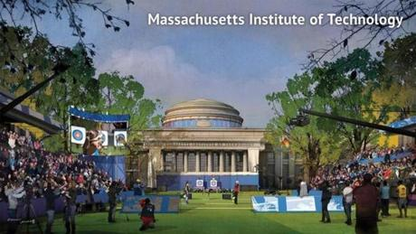 A proposed archery venue at the Massachusetts Institute of Technology.
