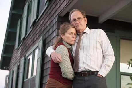 "Richard Jenkins and Frances McDormand in ""Olive Kitteridge."""