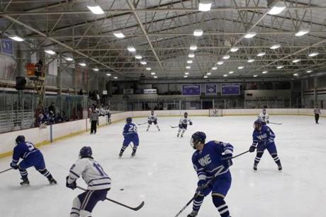 Curry College manages and has invested more than $500,000 in Ulin Rink, which is home to its hockey team, the Colonels.