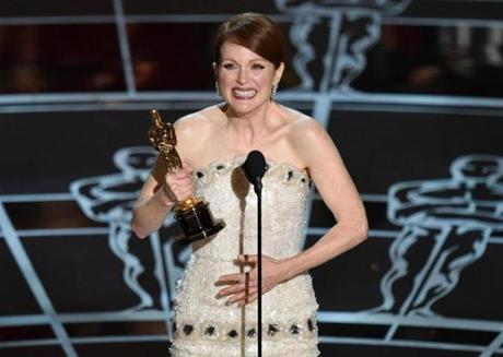 Julianne Moore accepted the award for best actress in a leading role for