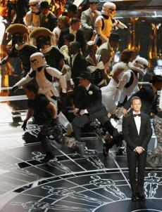 Host Neil Patrick Harris opened the 87th Academy Awards with a lively number at the Dolby Theater in Los Angeles on Feb. 22.