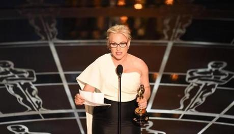 Best Supporting Actress winner Patricia Arquette.