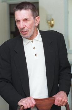 10/13/95---LEONARD NIMOY at the Ritz-Carlton; in town to promote his new book 'I Am Spock' about his days as Dr. Spock on Star Trek Library Tag 11271999 Living