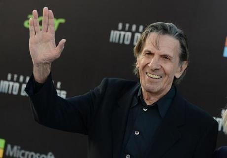 Leonard Nimoy arrives at the LA premiere of