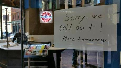 By mid-afternoon, the doughnuts had sold out.