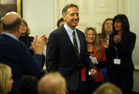 """This isn't an issue to be ashamed about any more than you should be ashamed of getting cancer or kidney disease,"" said Governor Peter Shumlin."