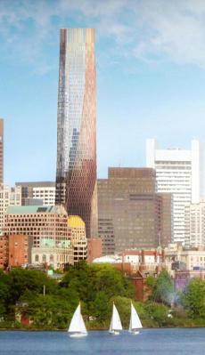 Rendering of Accordia Partners' proposed tower for Winthrop Square. (Accordia Partners)
