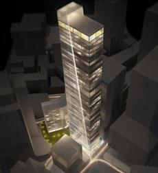Rendering of the Fallon Company's proposed tower for Winthrop Square. (Fallon Company)