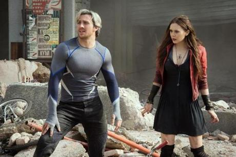 Quicksilver/Pietro Maximoff (Aaron Taylor-Johnson) and Scarlet Witch/Wanda Maximoff (Elizabeth Olsen) in the 2015 film AVENGERS: THE AGE OF ULTRON, directed by Joss Whedon. Ph: Jay Maidment (c) Marvel 2015 26avengers 01Avengers