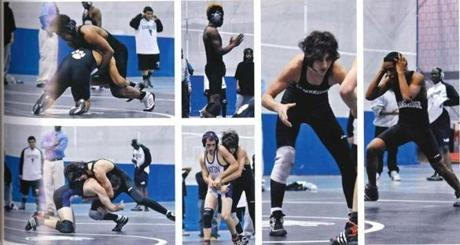 Photos of Tsarnaev on the wrestling team.