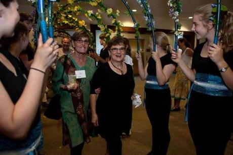 "Linn was feted at a ""Salute to Susan Linn"" celebration at Wheelock College in Brookline."