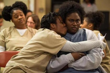 "Uzo Aduba (left) and Danielle Brooks in ""Orange is the New Black."" Photo Credit:"
