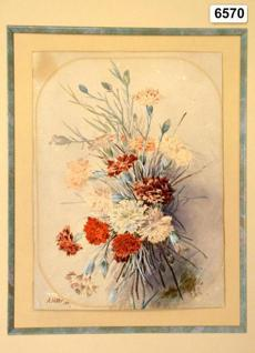 """Nelkenstrauss"" (carnation bouquet), a watercolor by Adolf Hitler."