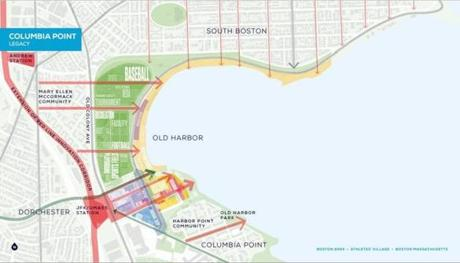 Even without the Olympics, Boston 2024 said the Columbia Point area has