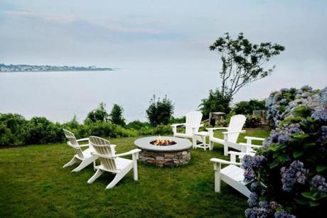 After a dip in the ocean, relax on the Chanler's lawn until it's time to dress for dinner.