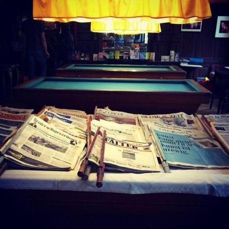 At Cafe Sperl, there are pool tables and a wealth of reading material.