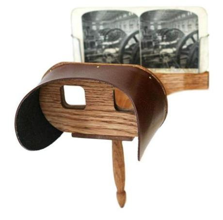 A reproduction Holmes stereoscope.