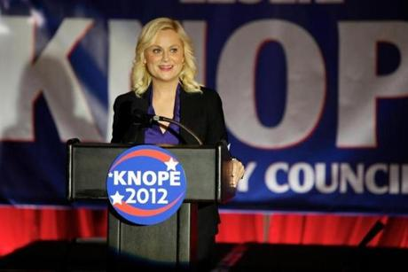 Amy Poehler as Leslie Knope.