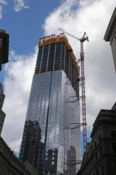 At the 52-story Millennium Tower in Downtown Crossing, windows go up on the 50th floor.