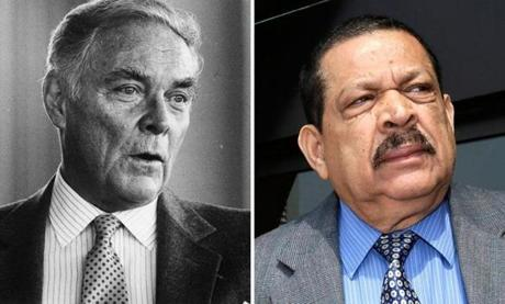 Alexander Haig (left), secretary of state under President Reagan, made comments implying the United States would help cover up the truth about other deaths in the country. Inocente Orlando Montano, who once lived in Everett, has been indicted in five of the killings at Central American University in El Salvador.