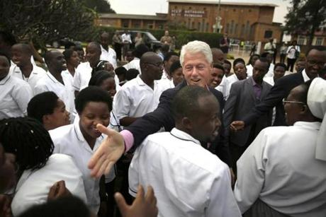 The Rwandan genocide during Bill Clinton's presidency has prompted him to devote Clinton Foundation efforts there.