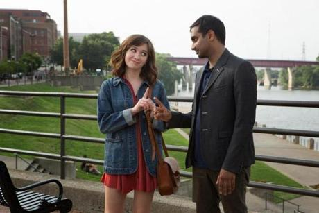 "Noël Wells, Aziz Ansari in the Netflix original series ""Master of None."""
