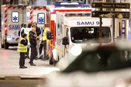 "Emergency services workers were on the scene during the raid. ""There was an hour of gunfire,"" said witness Baptiste Marie, a 26-year-old independent journalist who lives in the neighborhood."