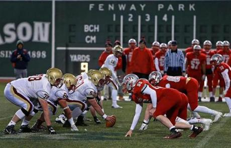 BC High topped Catholic Memorial, 13-10, the day before Thanksgiving.