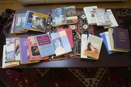 Some of the 33 books published by the biographers. Together, they constitute a chronicle of American history.